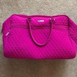 Vera Bradley Rose Petal Iconic Weekend Travel Bag